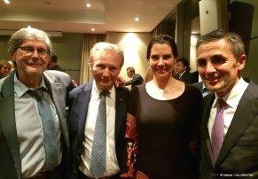 Jean Romain, Philippe Morel, Celine Tais et Francois Longchamp