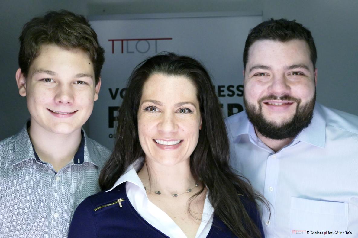 Hugo Taïs, Céline Taïs et Grégoire Pfäffli membre de pi-lot
