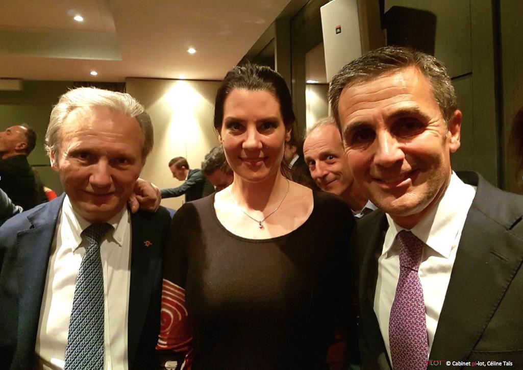 Philippe Morel, Céline Taïs et François Longchamp