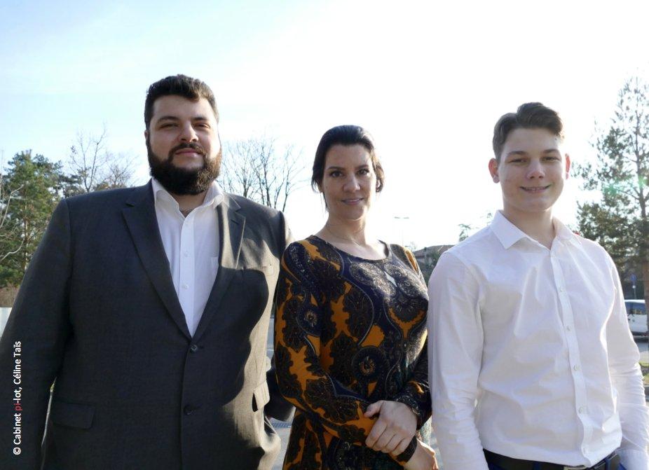 photo de Céline Taïs, Hugo Taïs et Grégoire Pfäffli en exterieur