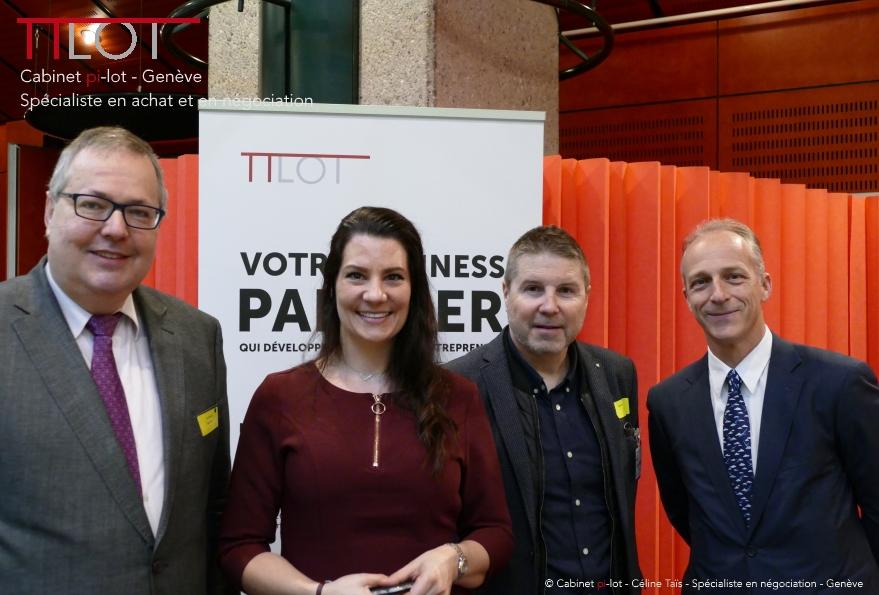 Céline Thaïs, André Schneider, Stéphane Oberson et Philippe Meyer